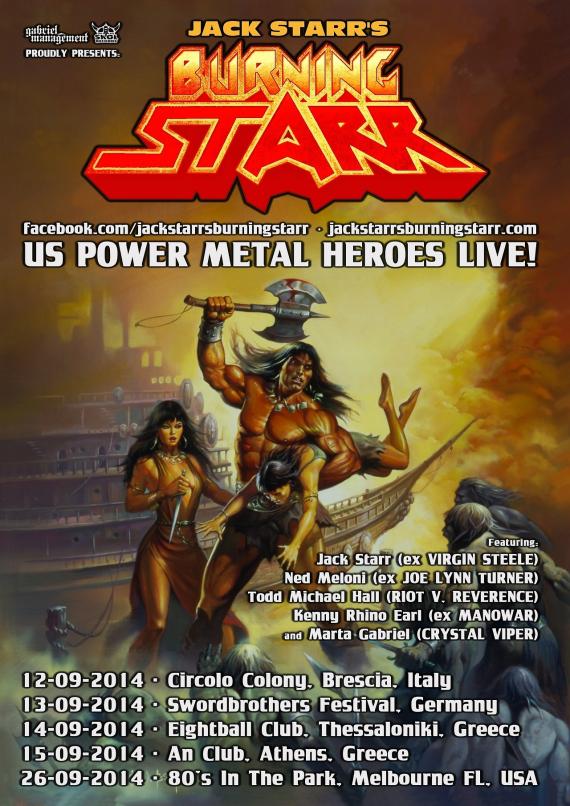 jack starr burning starr - tour 2014