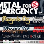 METAL FOR EMERGENCY 2014: gli orari del festival gratuito con RHAPSODY OF FIRE, MAGO DE OZ e altri