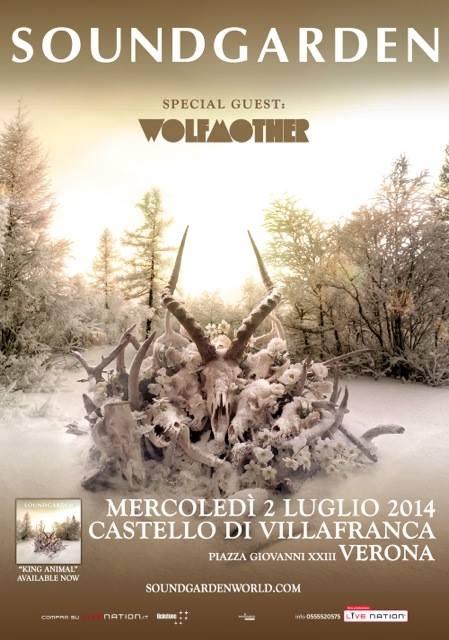 Soundgarden - locandina verona - 2014