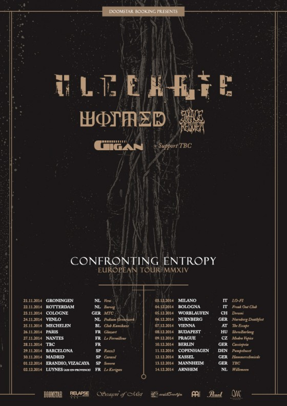 ulcerate - wormed - gigan - tour 2014