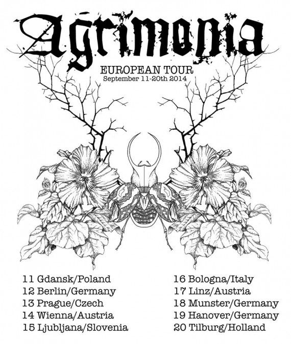 Agrimonia - europen tour 2014 flyer - 2014