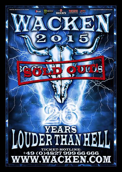 wacken open air 2015 - logo sold out