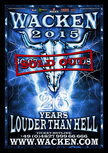 wacken open air 2015 - logo sold out