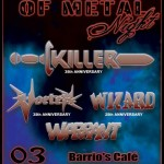 WARRIORS OF METAL NIGHT 2014: dentro KILLER e WARRANT, fuori SALEM e JAGUAR