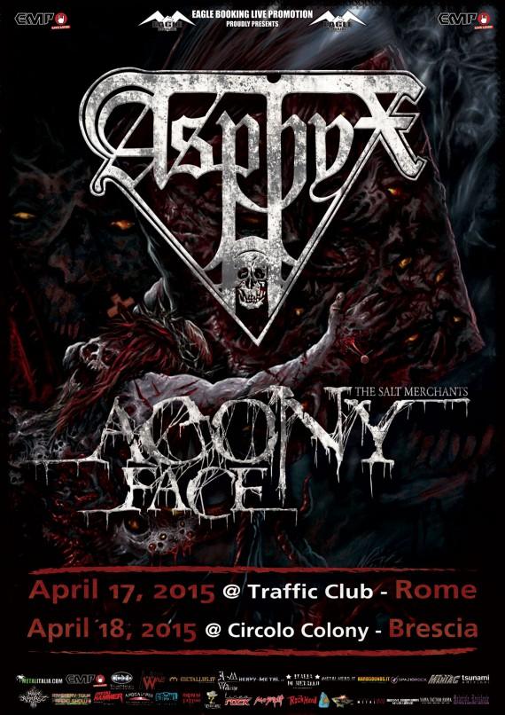 Asphyx - tour 2014 roma e brescia