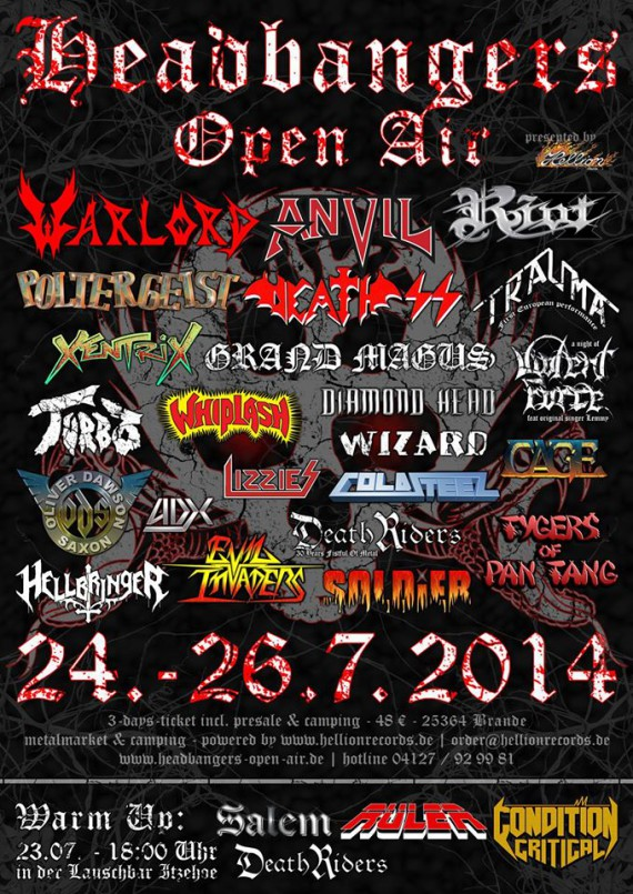 Headbangers Open Air - flyer 2014 - 2014