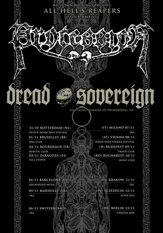 PROCESSION - DREAD SOVEREIGN - TOUR - 2014