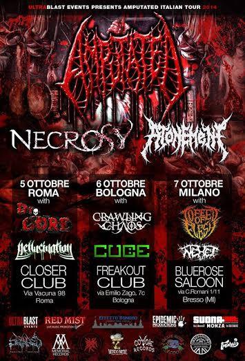 amputated tour italiano 2014