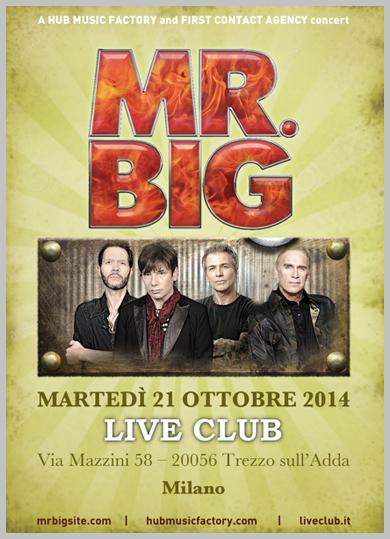 Mr. Big - locandina trezzo 2014