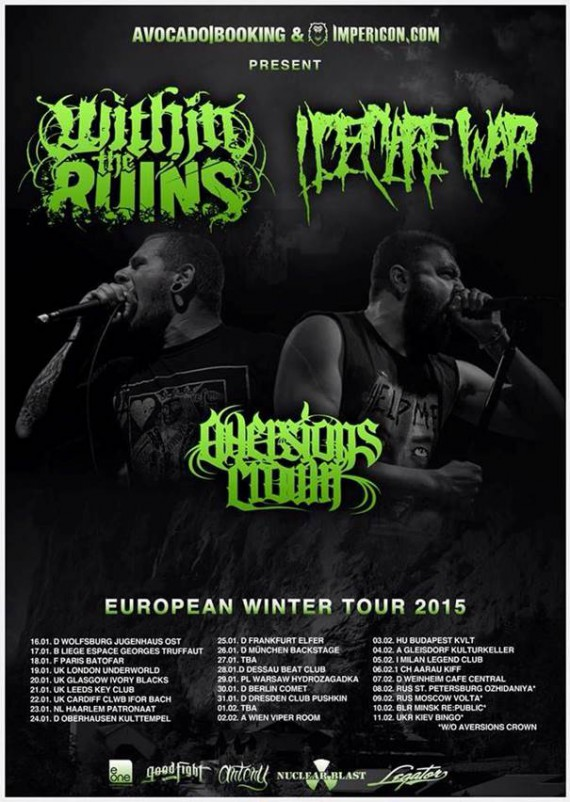 WITHIN THE RUINS - i declare war - tour 2015