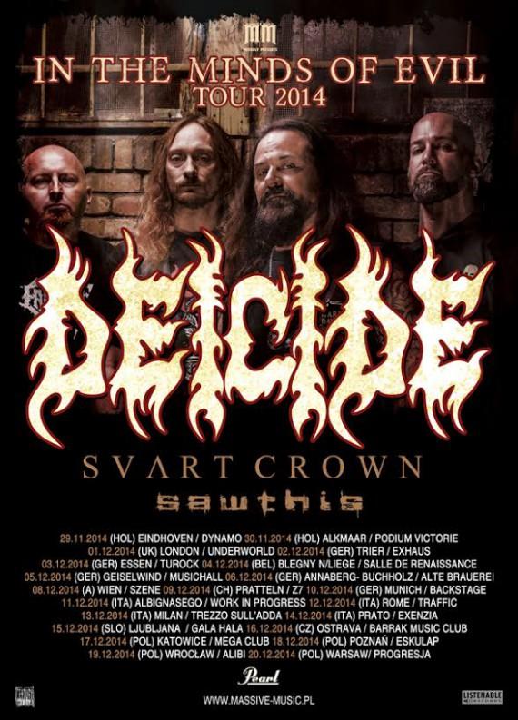 deicide - tour - 2014