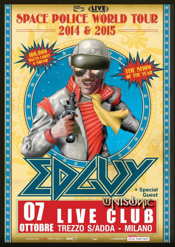 edguy - locandina trezzo - 2014
