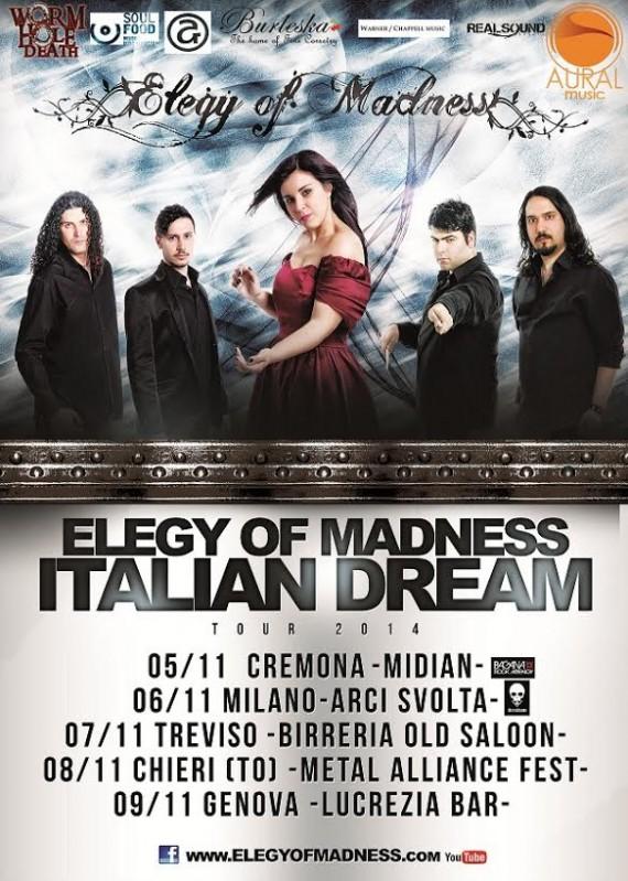 elegy of madness - locandina tour - 2014