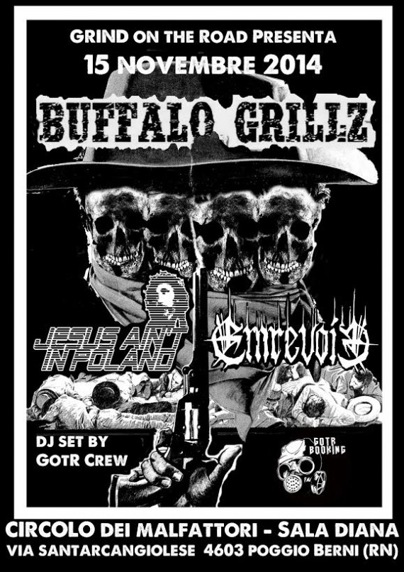 buffalo grillz - locandina 15 novembre 2014
