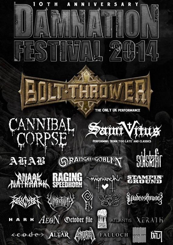damnation festival - locandina - 2014