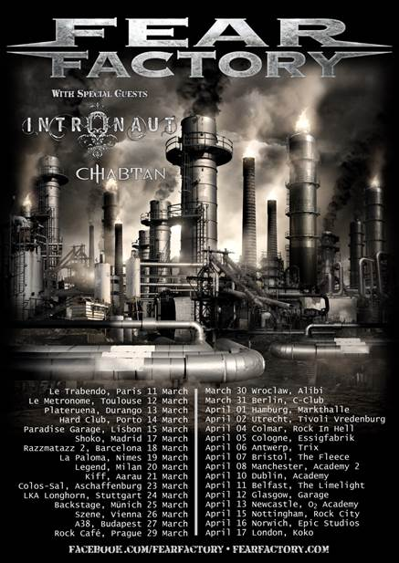 fear factory - intronaut - tour - 2015