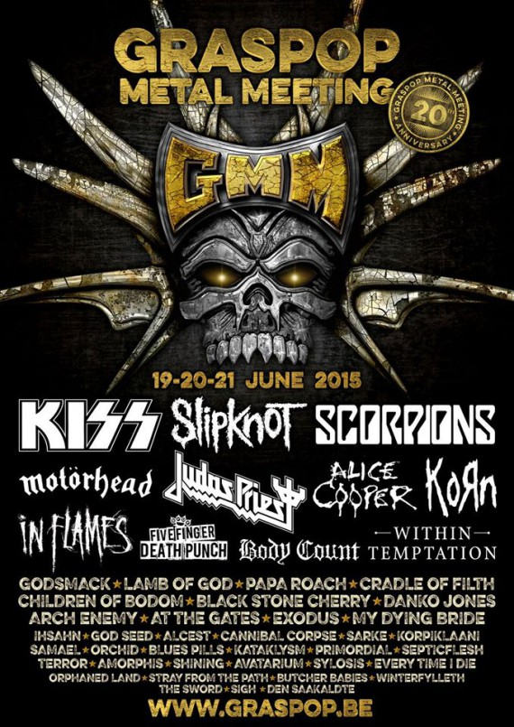 graspop metal meeting 2015 - headliner e prime conferme