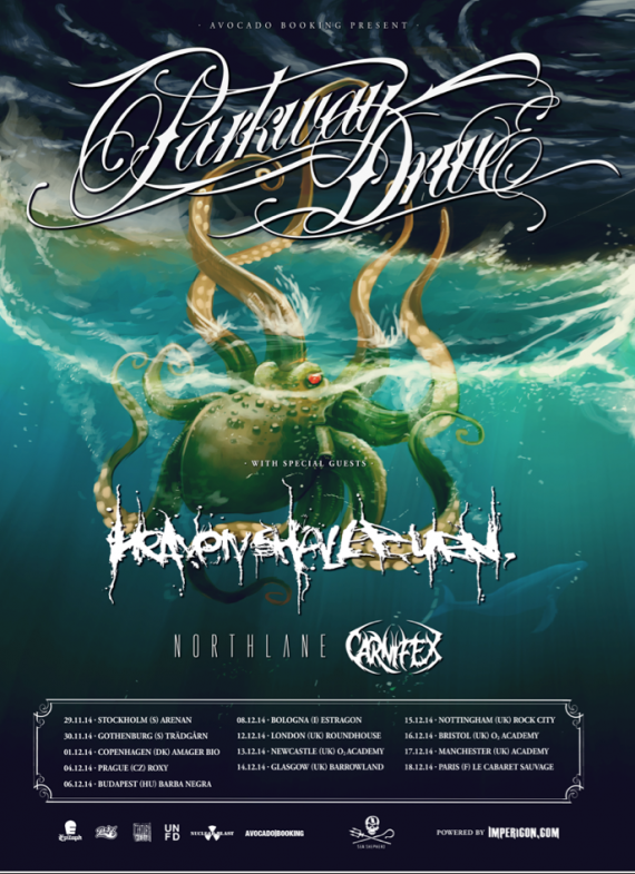 Parkway Drive - Flyer - 2014
