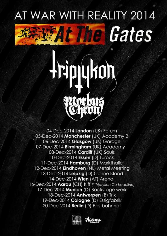 at the gates - locandina tour - 2014