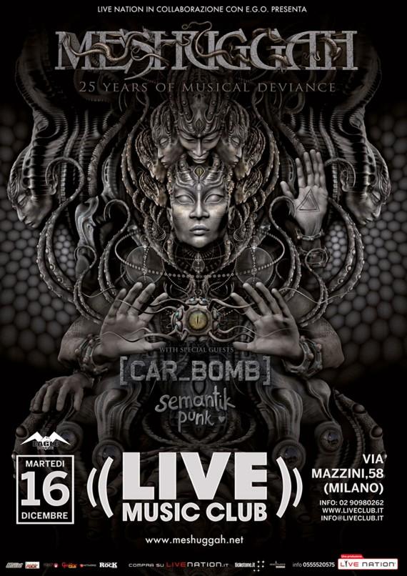 meshuggah - locandina eagle live club - 2014
