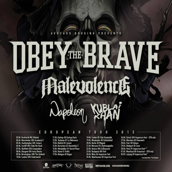 obey the brave - tour - 2015