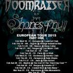 DOOMRAISER, SHORES OF NULL: il tour europeo, una data in Italia