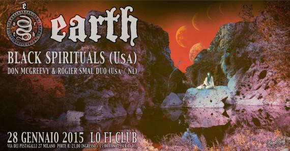 EARTH + BLACK SPIRITUALS live Lo-fi - poster - 2015
