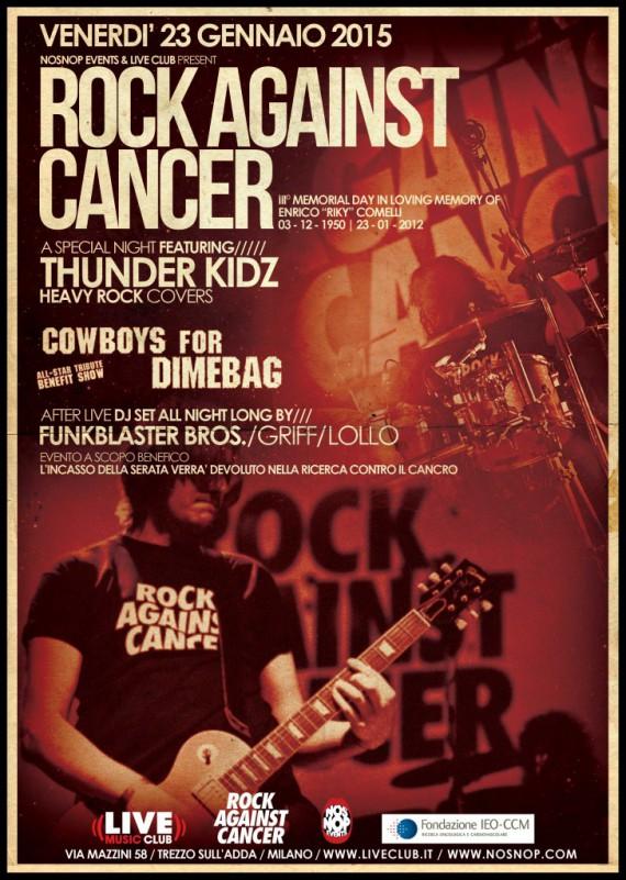 rock against cancer - 2015