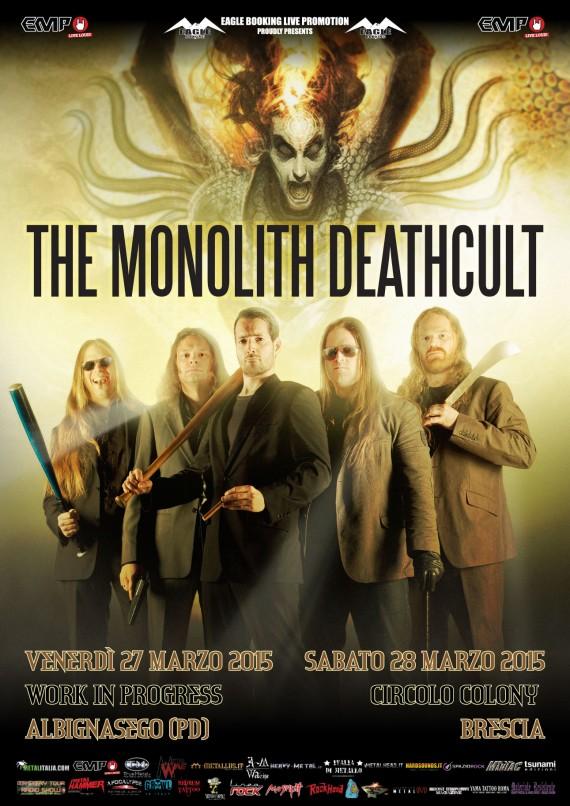 the monolith deathcult - live padova brescia - 2015