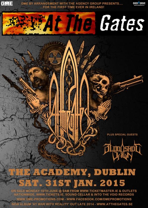 At The Gates - flyer Dublino - 2015