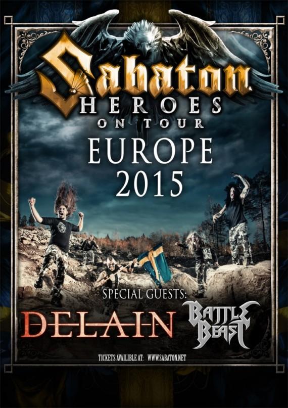 Sabaton - tour 2015 - locandina