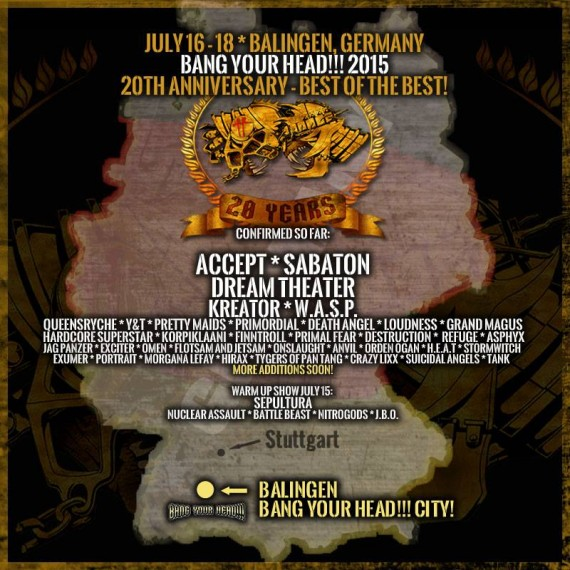 bang your head 2015 - aggiornamento 13 feb