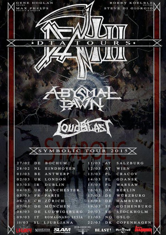 death to all - locandina tour europeo 2015