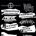 Hideous Divinity + Modus Delicti + Mindful Of Pripyat + Carnality