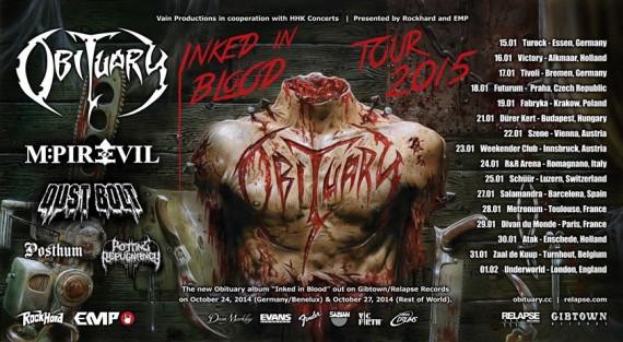 obituary - locandina tour - 2015