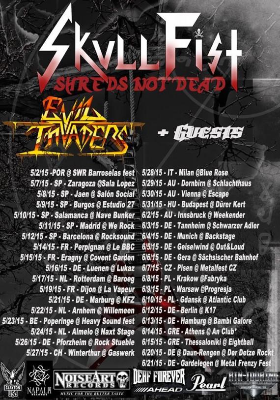 skull fist - tour - 2015