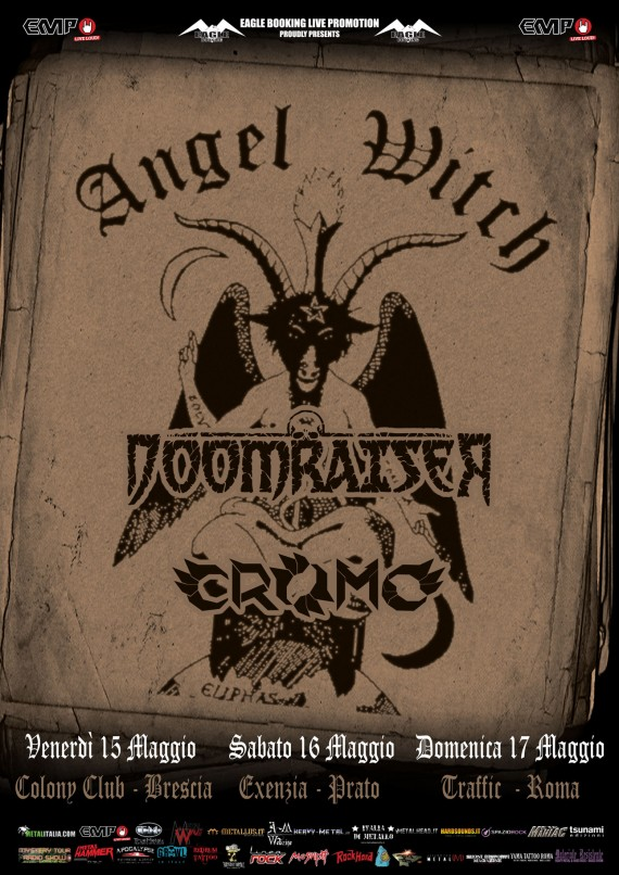 Angel Witch - locandina tour italia - 2015