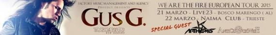 Gus G - Due date speciali al Nord Italia