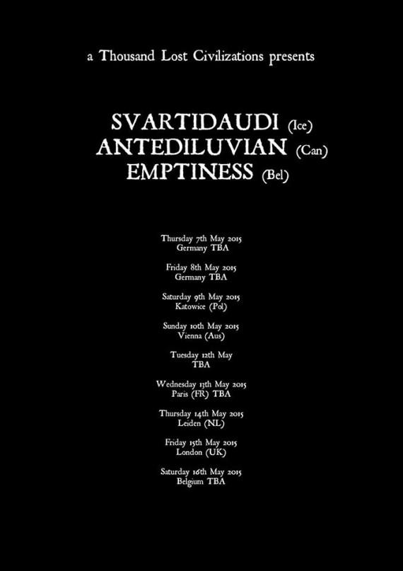 Svartidaudi Anteliduvian Emptiness - tour europeo - 2015