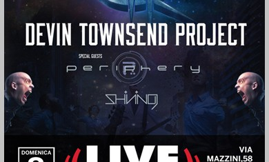 devin townsend - locandina live club trezzo - 2015