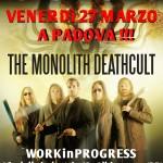 THE MONOLITH DEATHCULT: il 27 marzo a Padova