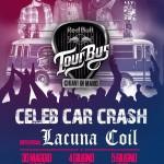 LACUNA COIL, CELEB CAR CRASH: date a L'Aquila, Salerno e Bari con il Red Bull Tourbus