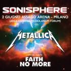 METALLICA, FAITH NO MORE: biglietti omaggio per il Sonisphere Italia 2015
