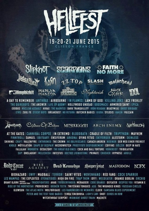 Hellfest 2015 - flyer bands - 2015