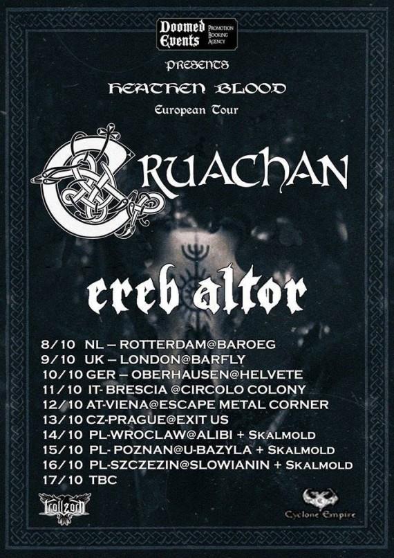 cruachan - ereb altor - tour europeo locandina - 2015