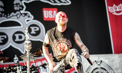 Ivan Moody of Five Finger Death Punch performs live at Assago Summer Arena