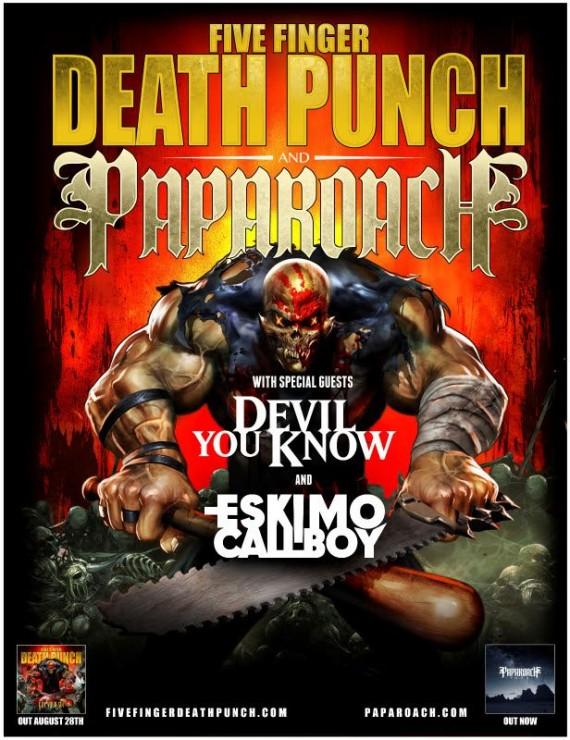 five finger death punch e papa roach - tour europeo - 2015