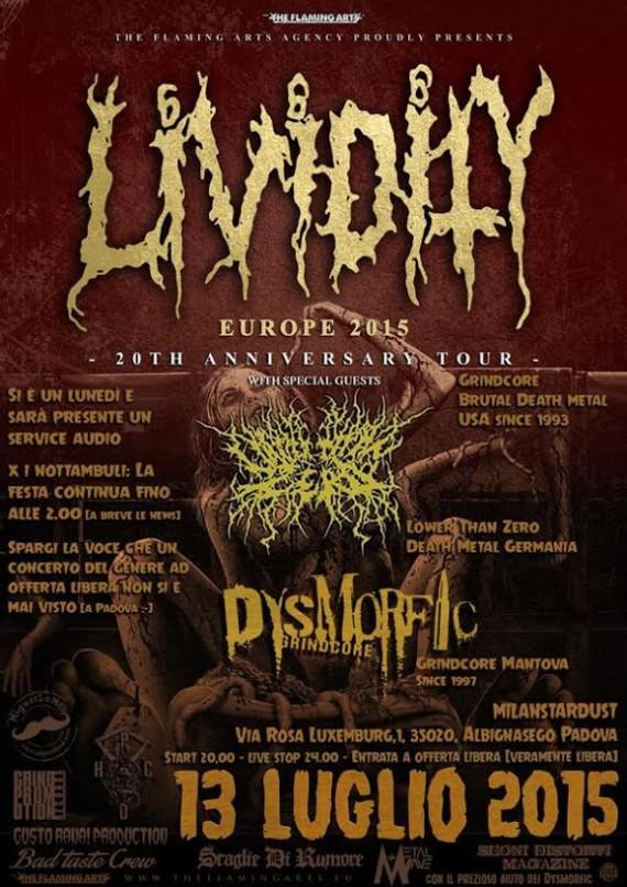 lividity - locandina padova 2015