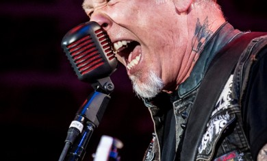James Hetfield of Metallica performs live on stage at Sonisphere Festival