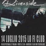 Riverside - flyer concerto Lo-Fi Milano - 2015
